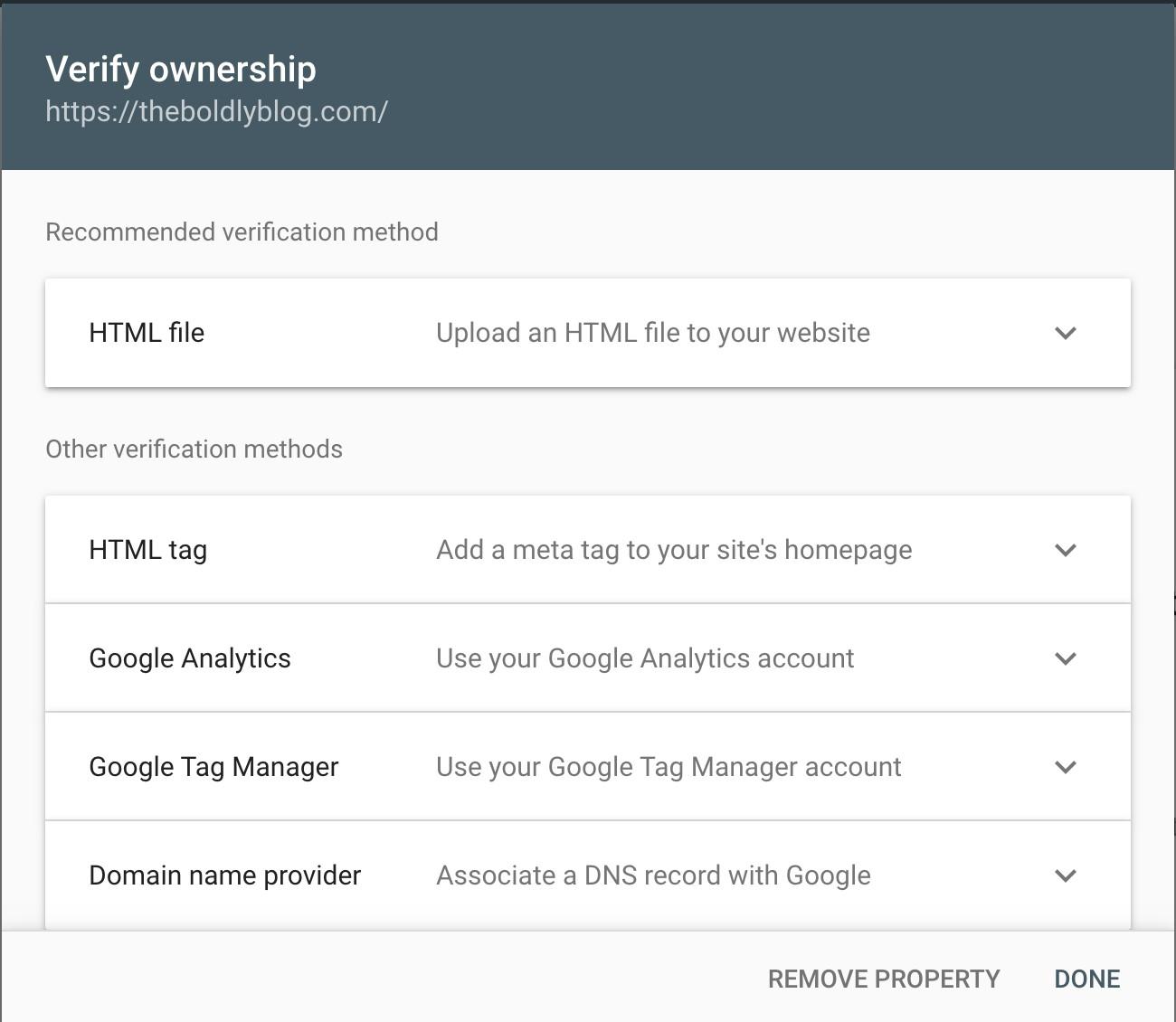 gsc-verify-ownership