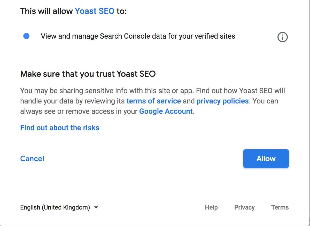 yoast + GSC set up