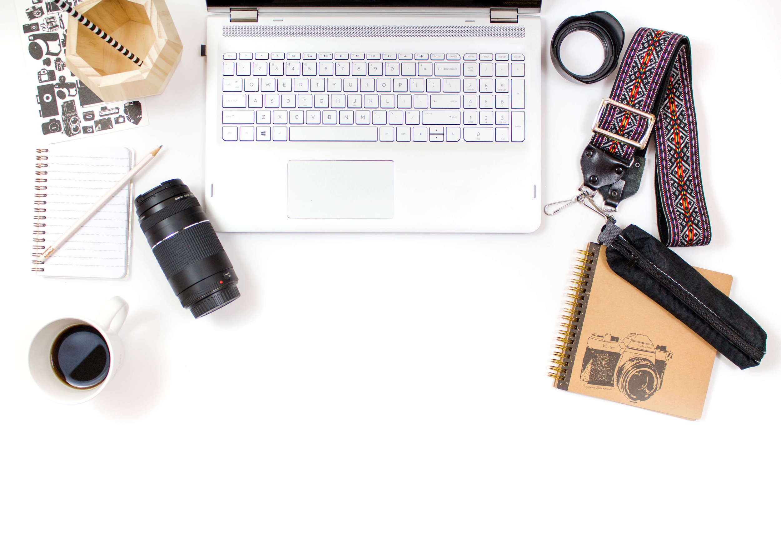 flatlay for designing seo for squarespace website