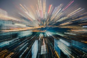 streaked lights of fast cars to speed up your website
