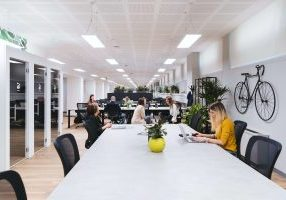 long office table and chairs of seo experts, outsourcing link building